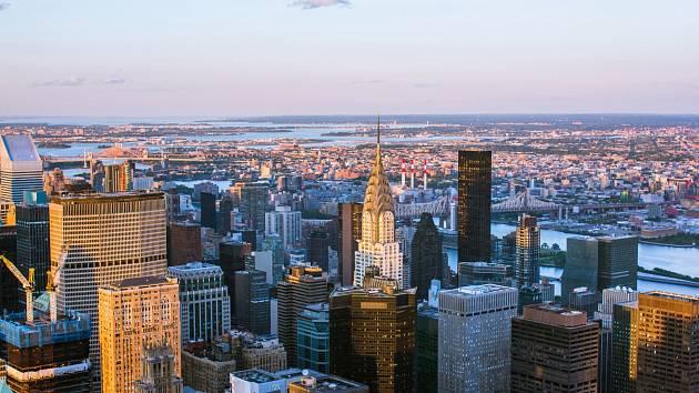 Mrakodrapy na Manhattanu. Ilustrační snímek