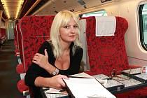 Bára Nesvadbová cestuje ráda vlakem