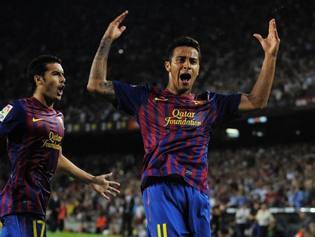 Thiago Alcantara v dresu Barcelony.