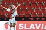 Slavia - Dukla: Tak se Tomáš Necid radoval z druhé branky