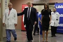 Donald Trump a Melanie Trumpová v Las Vegas