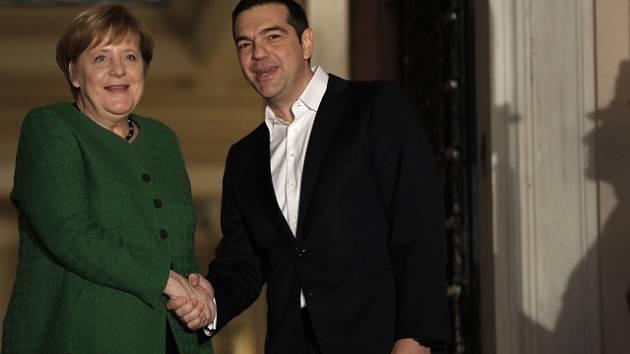 Německá kancléřka Angela Merkelová a řecký premiér Alexis Tsipras.