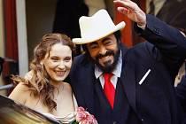 Pavarotti se svou ženou (2003)
