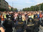 Protestní pochod v Plzni.