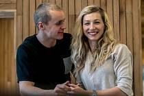 Jakub Vadlejch s manželkou Lucií.