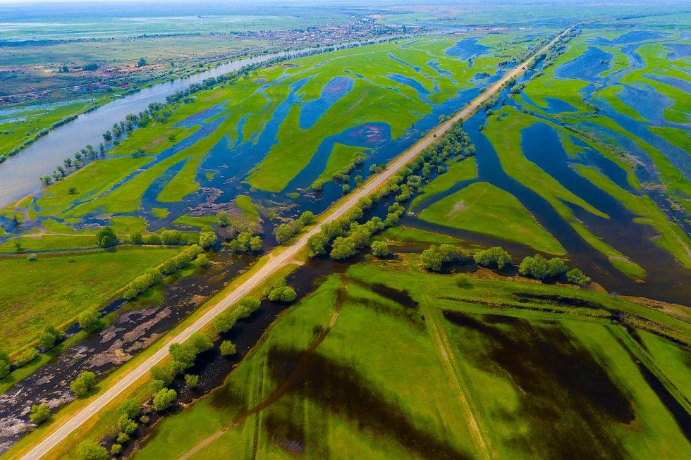 Delta ruské Volhy.
