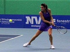 Agnieszka Radwaňská na tenisová extralize v Prostějově.