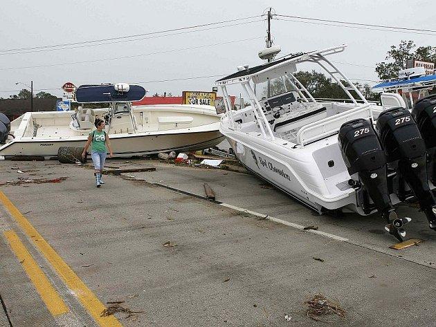 Řádění bouře Ike v americkém Houstonu