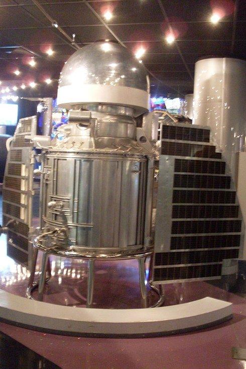 Maketa vesmírné sondy Veněra 1 v poměru 1:1 v moskevském muzeu kosmonautiky