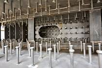Ukázkový modul pro elektrárnu AP1000. Pohled do vnitřní části.