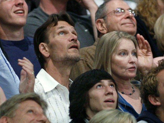 Herec Patrick Swayze s manželkou Lisou Niemi.
