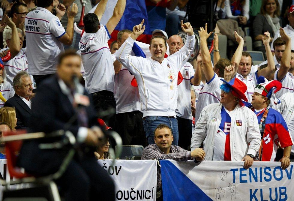 Finále Fed cup, ČR vs. Německo, Kvitová – Petkovič, hraný 8. listopadu v Praze.