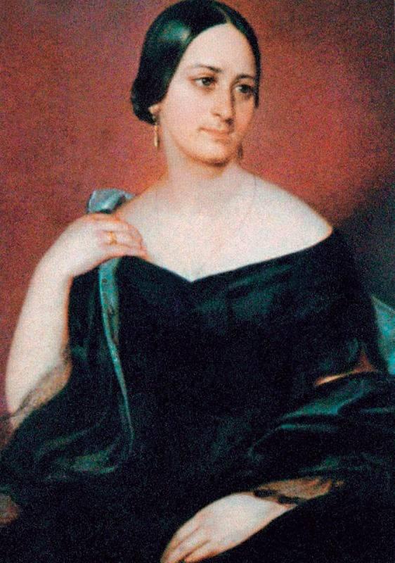 Božena Němcová na obraze Josefa Hellicha