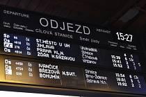 České dráhy informační tabule
