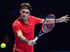 Roger Federer na Turnaji mistrů.