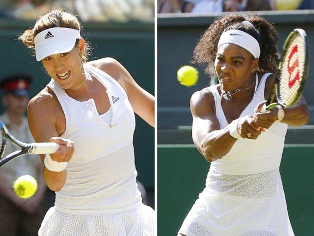 Stane se wimbledonskou šampionkou Garbiňe Muguruzaová (vlevo), nebo Serena Williamsová?
