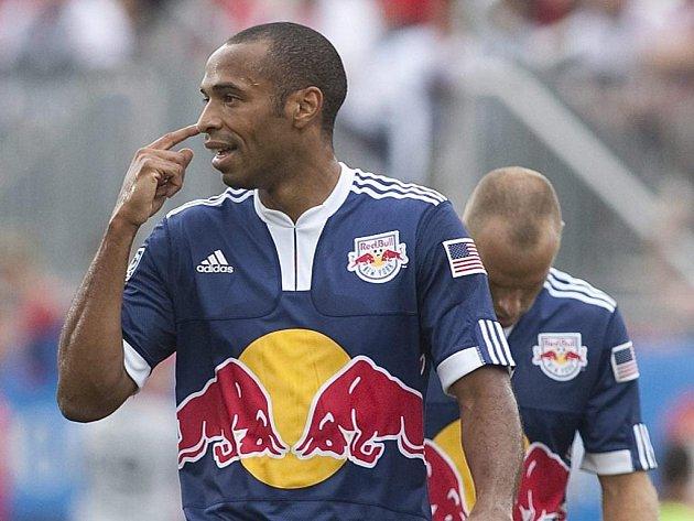 Francouzský útočník Thierry Henry pokračuje ve své kariéře v zámořské MLS v dresu New Yorku.