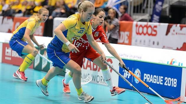 MS 2017 - Švédsko x Česko - Semifinále mistrovství světa žen ve florbale - 08. 12. 2017 - Arena Ondreja Nepelu, Bratislava, Slovensko