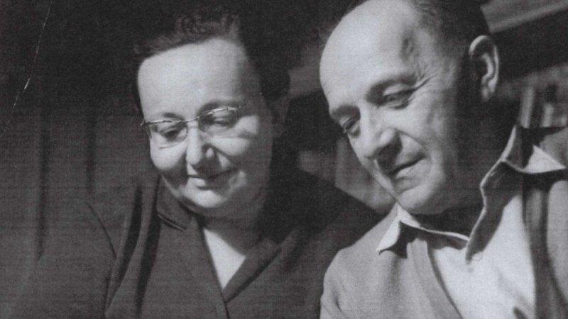 František Schnurmacher se svou ženou Vally v 70. letech 20. století