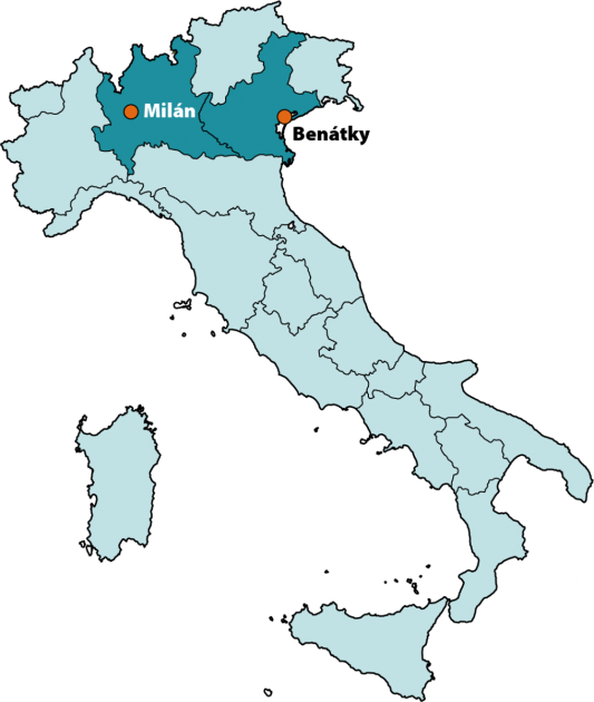 Lombardie a Benátsko
