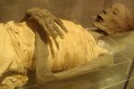 Mumie, kterou vlastní muzeum v San Jose.