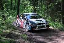 Jaroslav Orsák na trati Rallye Lužické hory.