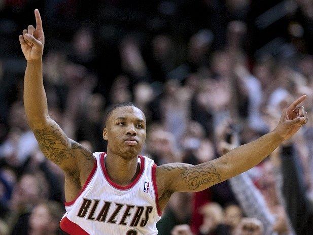 Opora basketbalistů Portlandu Trail Blazers Damian Lillard.