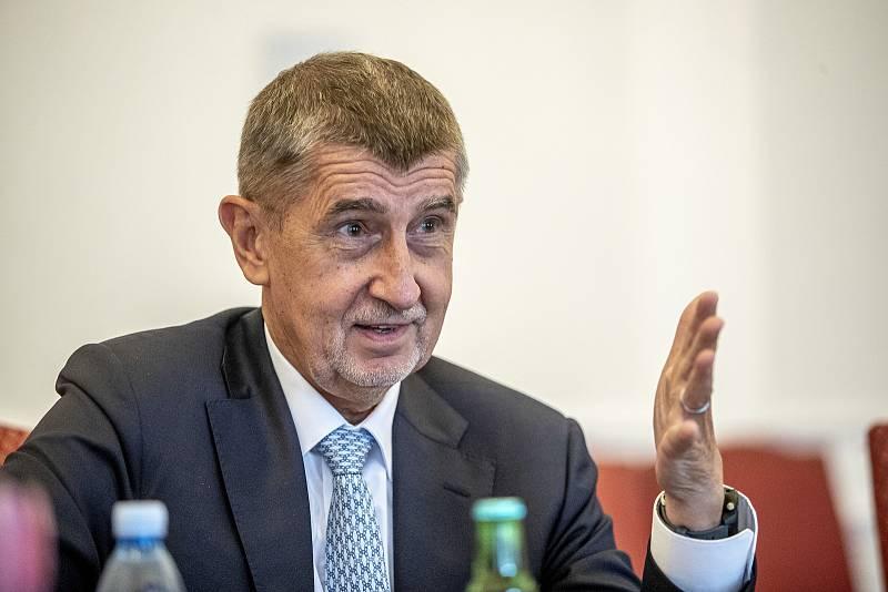 Premiér Andrej Babiš poskytl 16. června 2020 rozhovor Deníku