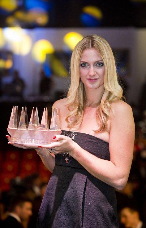 Tenistka Petra Kvitová s korunou pro Sportovce roku.