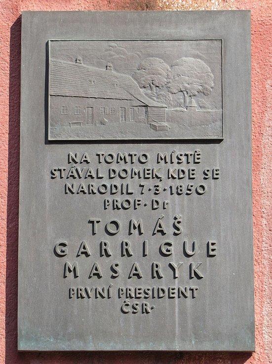 Vzpomínka na rodný dům TGM v Hodoníně