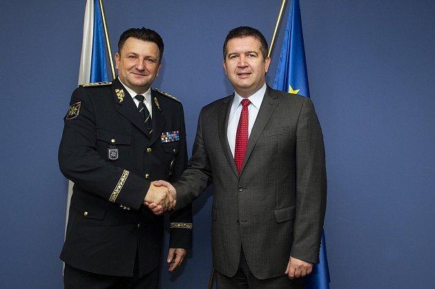 Policejní prezident Tomáš Tuhý a ministr vnitra Jan Hamáček