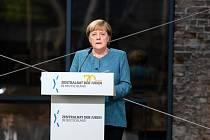 Německá kancléřka Angela Merkelová při projevu k oslavám 70. výročí založení Ústřední rady Židů.