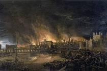 Velký požár Londýna zuřil čtyři dny, zničil celkově přibližně 13 500 staveb.
