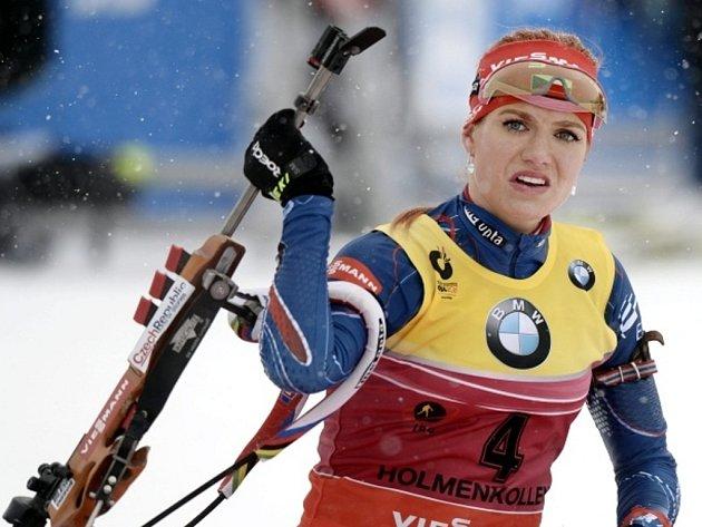 Gabrielu Soukalovou ve stíhacím závodu na mistrovství světa zradila střelba.