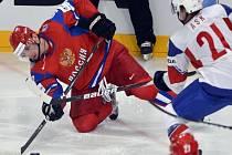 Rus Nikolaj Žerděv na MS proti Norsku.