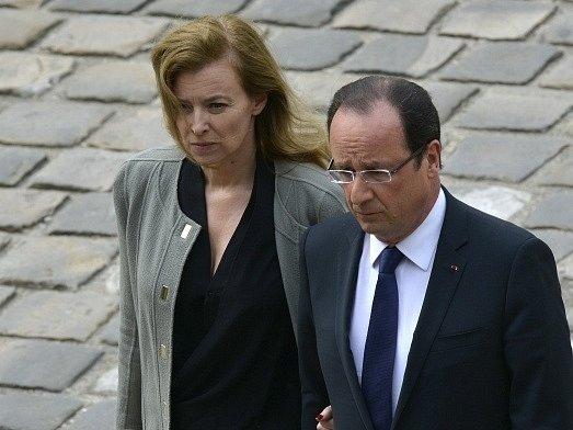Prezident Hollande se svou bývalou partnerkou Valerií Trierweilerovou.