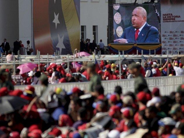 Pohřeb venezuelského prezidenta Huga Cháveze.
