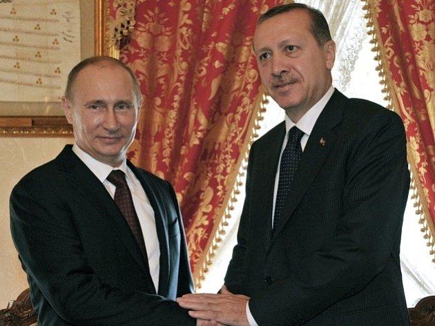 Vladimír Putin s Erdoganem.