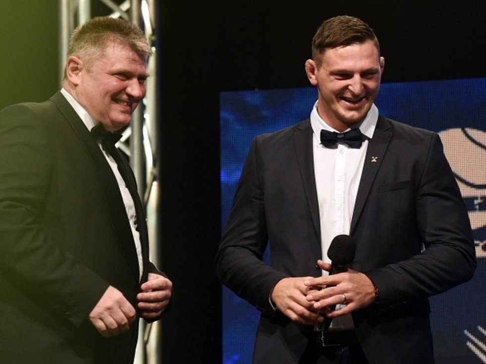 Prezident Českého tenisového svazu Ivo Kaderka (vlevo) a olympijský šampion v judu Lukáš Krpálek.