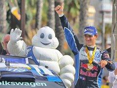 Mistr světa Sébastien Ogier.