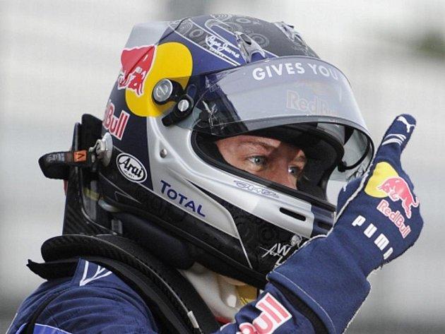Sebastian Vettel po vydařené kvalifikaci.