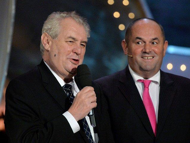 Fotbalista roku 2015: Miloš Zeman a Miroslav Pelta