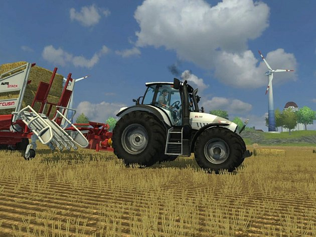 Počítačová hra Farming Simulator 2013.
