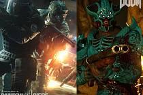 Počítačové hry Rainbow Six: Siege a Doom.