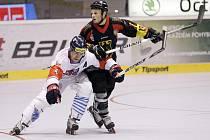 Čeští inline hokejisté (v bílém) v zápase MS proti Německu.