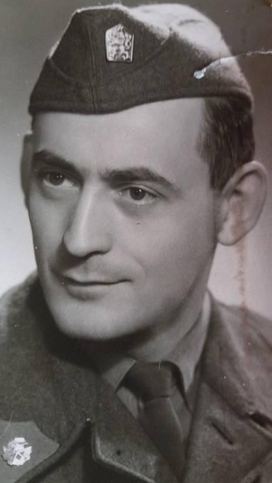 Jaroslav Cibulka, vojenská služba v roce 1962.