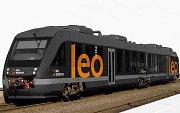 Vizualizace dieselových jednotek Alstom Lint v barvách Leo Expresu