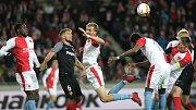 Zápas fotbalové Evropské ligy:  SK Slavia Praha - Sevilla FC v Edenu.