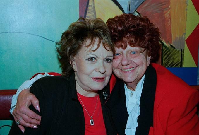 S Jiřinou Bohdalovou je pojilo dlouholeté přátelství.