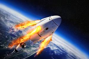 Crew Dragon společnosti Elona Muska.